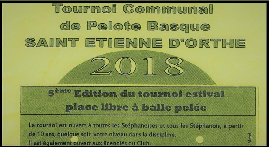 Tournoi communal de Pelote Basque